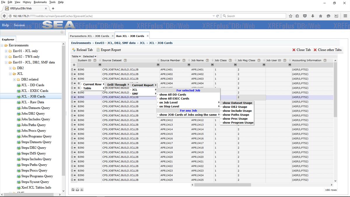 XREFplus DBr Online JCL Management Software | JCL Overview