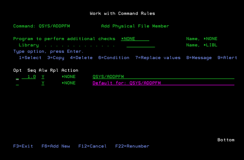 Protect your command rules easily with iSecurity command's many features
