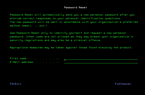 Our IBM i/AS400 password management software allows you to reset your password at any time