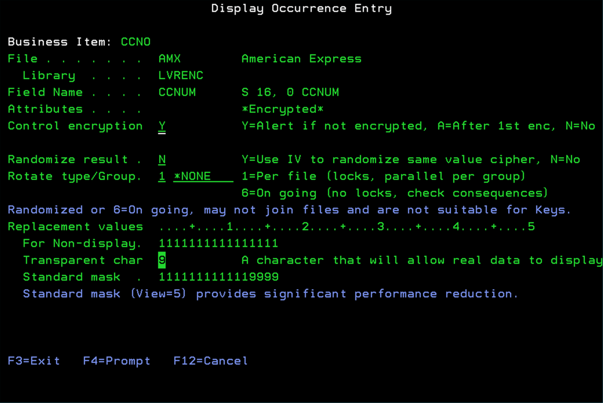 Field Level Encryption for IBM i/AS400/iSeries   Encryption